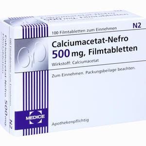 Abbildung von Calciumacetat- Nefro 500mg Filmtabletten 100 Stück