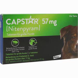 Abbildung von Capstar 57mg für Große Hunde Tabletten 6 Stück