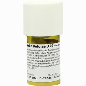 Abbildung von Carbo Betulae D20 Trituration 20 g