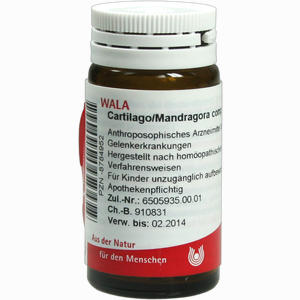 Abbildung von Cartilago/mandra Comp Globuli 20 g