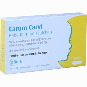 Abbildung von Carum Carvi Baby- Kümmelzäpfchen  10 Stück