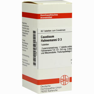 Abbildung von Causticum Hahnemanni D3 Tabletten 80 Stück