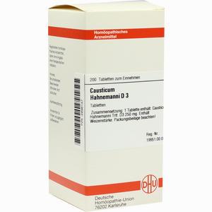 Abbildung von Causticum Hahnemanni D3 Tabletten 200 Stück