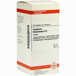 Abbildung von Causticum Hahnemanni D6 Tabletten 200 Stück