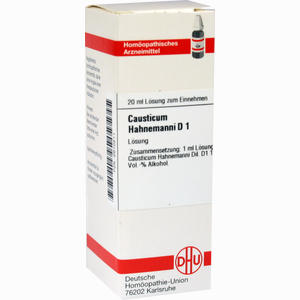 Abbildung von Causticum Hahnemanni Urt/d 1 Dilution 20 ml