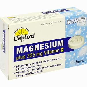 Abbildung von Cebion Magnesium Plus 225 Mg Vitamin C Brausetabletten 20 Stück