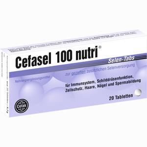Abbildung von Cefasel 100 Nutri Selen- Tabs Tabletten 20 Stück