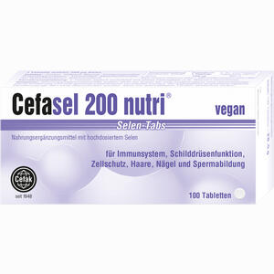 Abbildung von Cefasel 200 Nutri Selen- Tabs Tabletten 100 Stück
