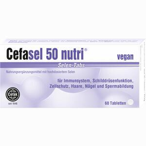 Abbildung von Cefasel 50 Nutri Selen- Tabs Tabletten 60 Stück