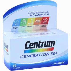 Abbildung von Centrum Generation 50+ A- Zink + Floraglo Lutein Tabletten 60 Stück