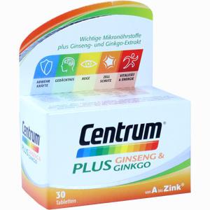 Abbildung von Centrum Plus Ginseng & Ginkgo Tabletten 30 Stück