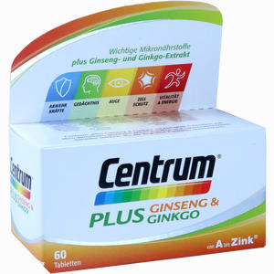 Abbildung von Centrum Plus Ginseng & Ginkgo Tabletten 60 Stück