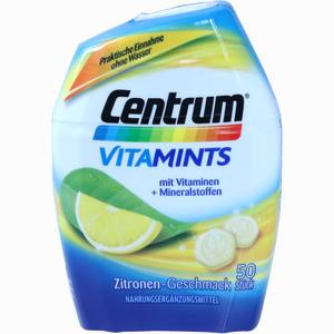 Abbildung von Centrum Vitamints Zitronen- Geschmack Kautabletten 50 Stück