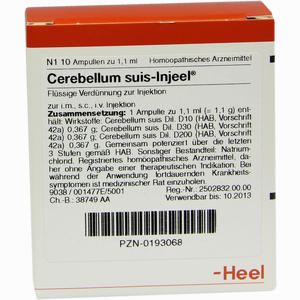 Abbildung von Cerebellum Suis- Injeel Ampullen  10 Stück