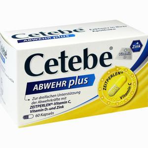 Abbildung von Cetebe Abwehr Plus Kapseln Gsk otc medicines 60 Stück