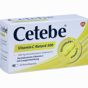 Abbildung von Cetebe Vitamin C Retard 500 Retardkapseln 30 Stück