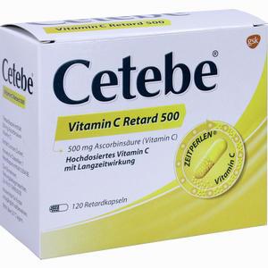 Abbildung von Cetebe Vitamin C Retard 500 Retardkapseln 120 Stück