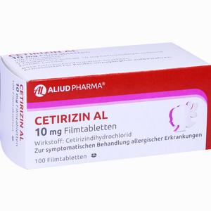 Abbildung von Cetirizin Al 10 Mg Filmtabletten  100 Stück