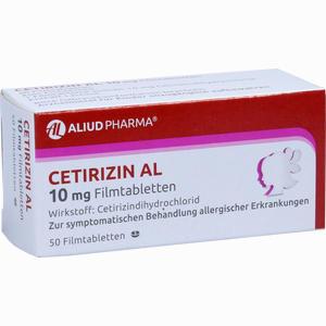 Abbildung von Cetirizin Al 10 Mg Filmtabletten  50 Stück