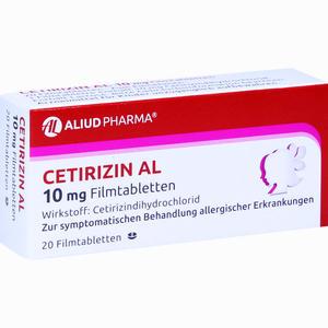 Abbildung von Cetirizin Al 10 Mg Filmtabletten  20 Stück