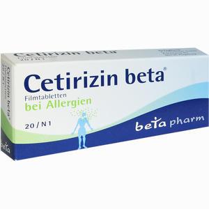 Abbildung von Cetirizin Beta Filmtabletten 20 Stück