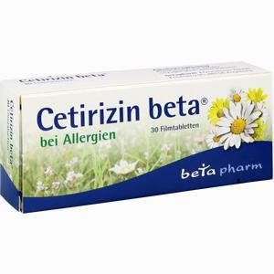 Abbildung von Cetirizin Beta Filmtabletten 30 Stück