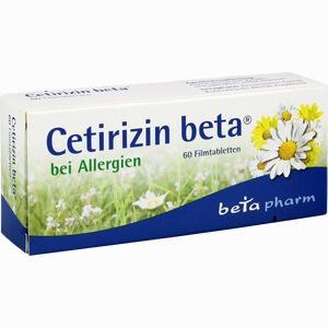 Abbildung von Cetirizin Beta Filmtabletten 60 Stück