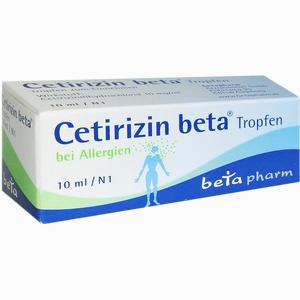 Abbildung von Cetirizin Beta Tropfen  10 ml