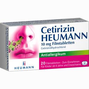 Abbildung von Cetirizin Heumann 10 Mg Filmtabletten  20 Stück