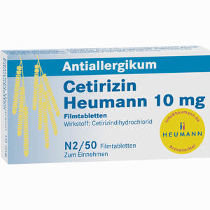 Abbildung von Cetirizin Heumann 10 Mg Filmtabletten  50 Stück