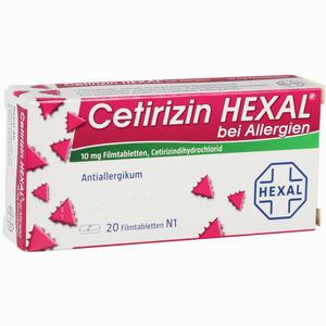 Abbildung von Cetirizin Hexal bei Allergien Filmtabletten 20 Stück