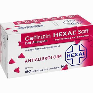 Abbildung von Cetirizin Hexal Saft bei Allergien  150 ml