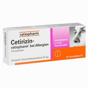 Abbildung von Cetirizin- Ratiopharm bei Allergien 10 Mg Filmtabletten  20 Stück