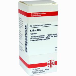 Abbildung von China D6 Tabletten 80 Stück