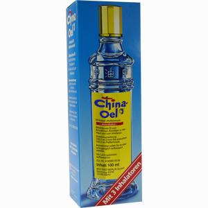 Abbildung von China Öl mit 3 Inhalatoren 100 ml