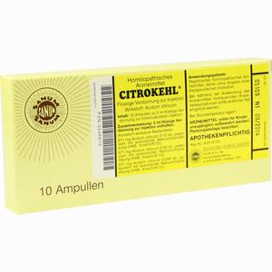 Abbildung von Citrokehl Ampullen 10 x 2 ml