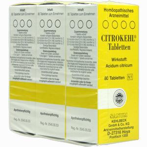 Abbildung von Citrokehl Tabletten  3 x 80 Stück