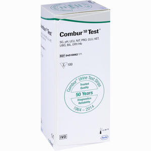 Abbildung von Combur 10 Test Teststreifen 100 Stück