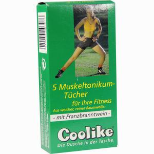 Abbildung von Coolike Muskeltonikum für Ihre Fitness mit Franzbranntwein Tücher 5 Stück