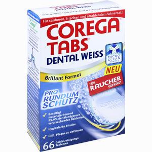 Abbildung von Corega Tabs Dental Weiss für Raucher Tabletten 66 Stück