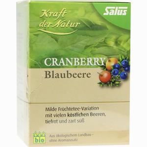 Abbildung von Cranberry Blaubeere Tee Kraft der Natur Salus Filterbeutel 15 Stück