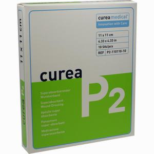 Abbildung von Curea P2 11x11cm Superabsorbierender Wundverband Kompressen 10 Stück