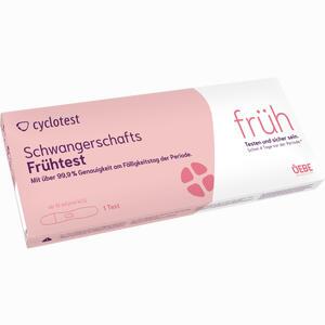 Abbildung von Cyclotest Schwangerschafts- Frühtest 10 Mlu/ml  1 Stück