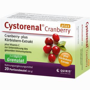 Abbildung von Cystorenal Cranberry Plus Granulat 20 Stück