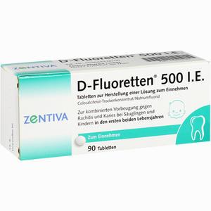 Abbildung von D- Fluoretten 500 Tabletten 90 Stück