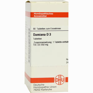 Abbildung von Damiana D3 Tabletten 80 Stück