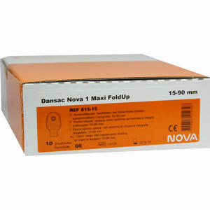 Abbildung von Dansac Nova 1 Foldup Maxi Beutel Dansac 10 Stück