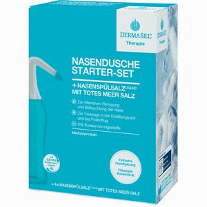 Abbildung von Dermasel Therapie Nasendusche Starter- Set Kombipackung 1 Packung
