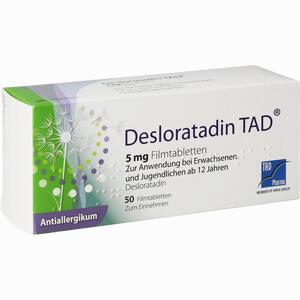 Abbildung von Desloratadin Tad 5mg Filmtabletten  50 Stück
