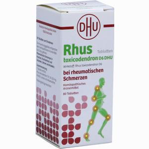 Abbildung von Dhu Rhus Toxicodendron D6 bei Rheumatischen Schmerzen Tabletten 80 Stück